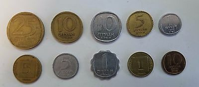 Lot of 10 old Israel coins Agora All Types