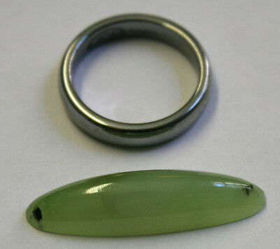 Natural Siberian Green Jade Loose Gemstone 8X31Mm Oval Cabochon 13.4Ct Gem Ja45