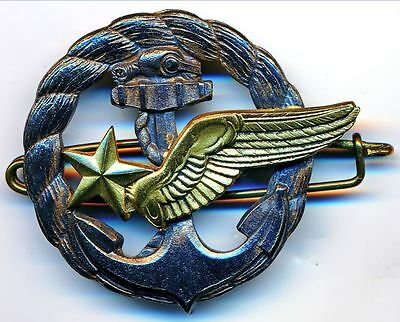 WWII France French Naval Military Air Force Pilot Insinia Badge by DRAGO