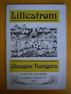 European Cup Winners Cup - Lillestrom v Glasgow Rangers - 5th September 1979