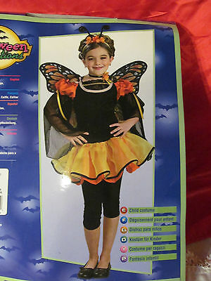 Butterfly Halloween Costume Size M Kids 8/10 Unused