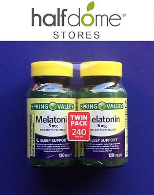 Spring Valley Melatonin Tablets Regulate Your Sleep Cycle, 5mg, 120 pc, 2 ct