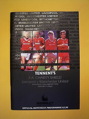 FA Charity Shield - Liverpool v Manchester United - 18th August 1990