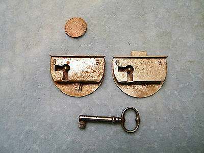 Door Cabinet Drawer Locks Dovetail NOS Vintage Pair