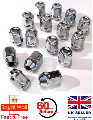 Chrysler GRAND VOYAGER alloy wheel nuts M12 x 1.5 taper 19mm Hex set of 16