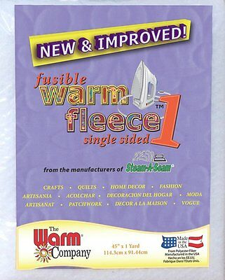 "Fusible Warm Fleece 1 - 45"" x 1 Metre (114cm x 100cm) - Cut Off The Roll"
