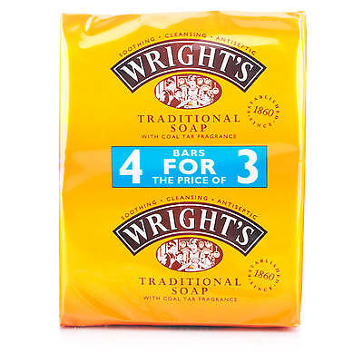 Wright's Traditional Coal Tar Soap 4 x 125g Bars