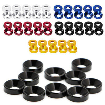 Aluminum Alloy M2 M3 M4 M5 Anodized Countersunk Head Bolt Washers Gasket New