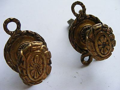 Brass Furniture Knobs X 2 Pieces