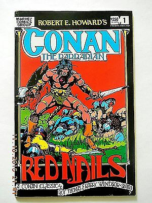 Marvel Comics Conan The Barbarian Red Nails #1 Comic Book! Barry Windsor Smith!