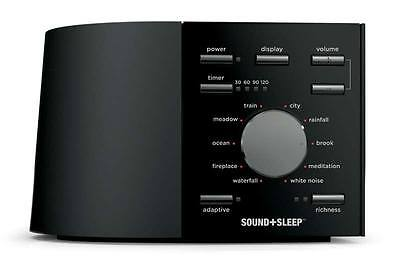 SOUND+SLEEP - Sleep Therapy & White Noise Machine - Black (with UK Adapter)