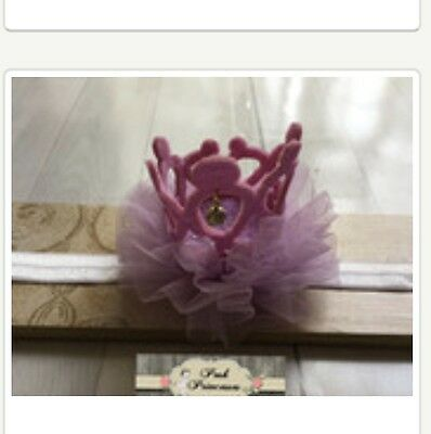 Baby Headband, Sparkle Lavender Glitter Princess Tiara Crown With Tulle Any Size