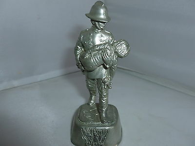 Phoenix Collection Pewter Fireman/firefighter Figure With Child