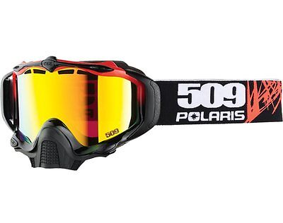 Polaris Sinister 509 X5 Goggles Cracked Fire Mirror Red 2866113 Free Shipping