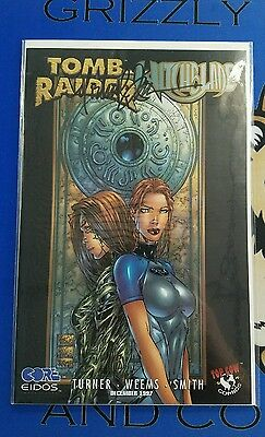 Tomb Raider Witchblade #1 1997 Variant SIGNED with COA Michael Turner RARE