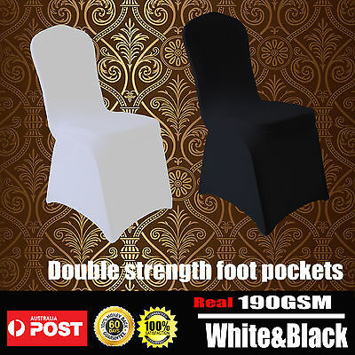 White Black Chair Cover Spandex Lycra Folding Banquet Wedding Party Decoration