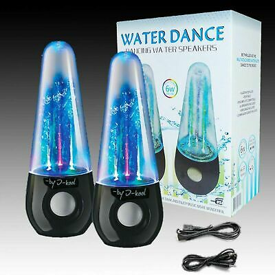 I-kool Original Water Dancing Speakers Super Charged Bass Works With USB / Aux