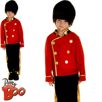 Royal Guard Boys Fancy Dress Queens British Soldier Royalty Kids Childs Costume