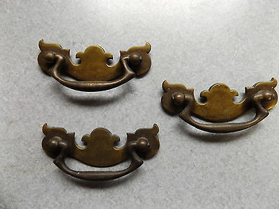 3 vintage possibly antique drawer pulls