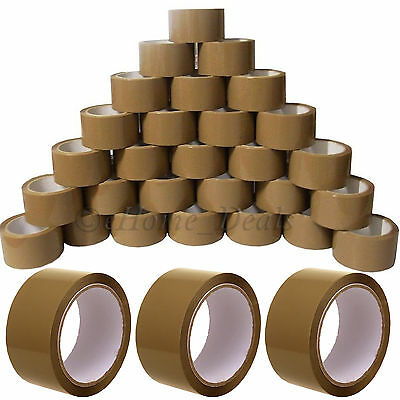 45 Micron Strong Brown Buff Parcel Packing Packaging Sealing Roll Tape Sellotape