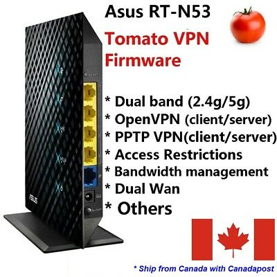 Asus RT-N53 Dual band Wireless N600 Gigabit Router with Tomato VPN firmware