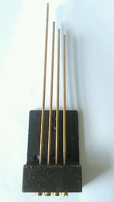 Tuned Westminster Chime Gongs Underslung 4 Bronze Rods. Longest 235mm