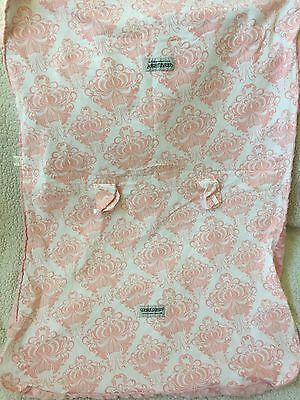 CARSEAT CANOPY Minky Dot Pink White Damask Infant Car Seat COVER ANGELINA