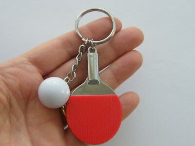 1 Table tennis bat and ball key ring SP211