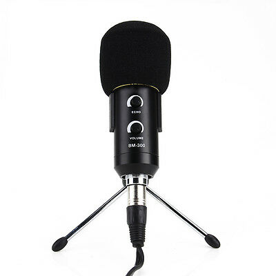 Professional USB Condenser Podcast Microphone PC Recording MIC Supporter Trépied