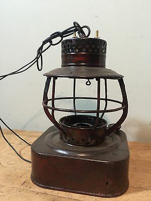 Antique Electrified Railroad Light Fixture