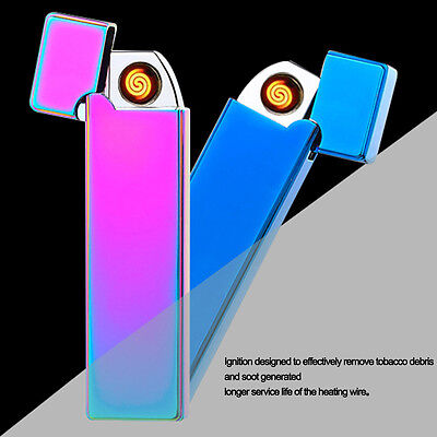 USB Rechargeable Electric LIGHTER Double ARC PULSE Flameless Torch Windproof New