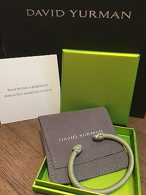 David Yurman Aluminum Bracelet Cuff Cable Rope Renaissance - Limited Edition