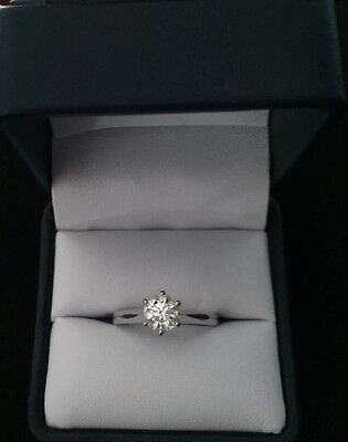 1.01ct Diamond Engagement Ring in 18ct White Gold