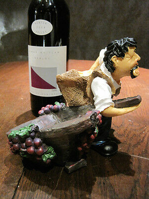 Hand Made Wine bottle HOLDER ... perfect Table Decoration Complete with a WINE
