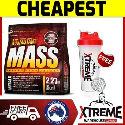 Pvl Mutant Mass 5Lb Straw-Banana // Extreme Weight Gainer Serious Bulk Up Super