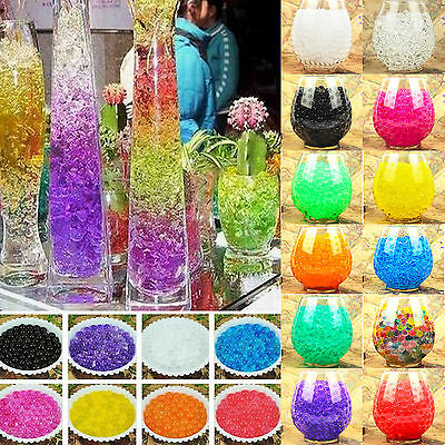 13 Colors Crystal Mud Soil Water Beads Flower Planting Garden Wedding Decoration