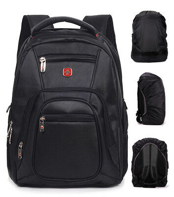 Men Waterproof Travel Gear Backpack Swiss Laptop Hiking Rucksack School Bag