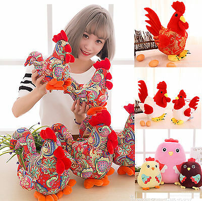 2017 new year big rooster plush toy mascot birthday christmas gift wedding gift