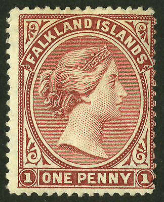Falkland Islands  1883-95  Scott #  5  Mint Lightly Hinged