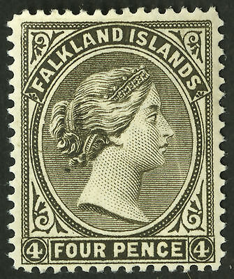 Falkland Islands  1883-95  Scott #  6b  Mint Very Lightly Hinged