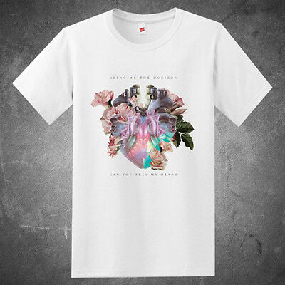 Bring Me The Horizon Can You Feel My Heart Men's White T-Shirt Size S to 3XL