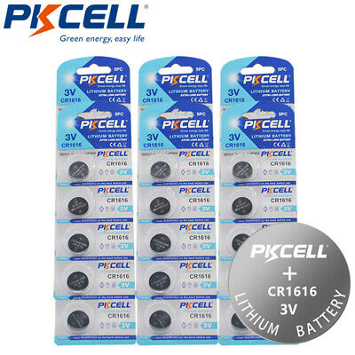 30PCS CR1616 3V Lithium Coin Cell Battery for Car Remote Controls
