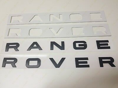 NEW MATTE BLACK 3M LETTERS HOOD OR TRUNK TAILGATE NAMEPLATE Fit For RANGE ROVER