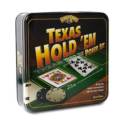 Excalibur Texas Hold 'Em Poker Set - Poker Chips Professional Playing Cards
