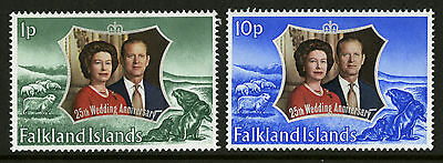 Falkland Islands  1972  Scott #223-224 Mint Never Hinged Set
