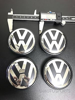 4Pcs SET 70MM CENTER WHEEL HUB CAPS Fit for 2004-2010 VOLKSWAGEN VW TOUAREG
