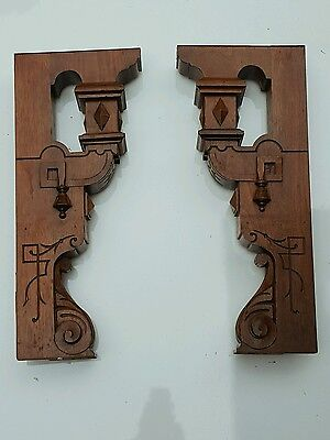 Two Vintage Corbels Accent Pieces