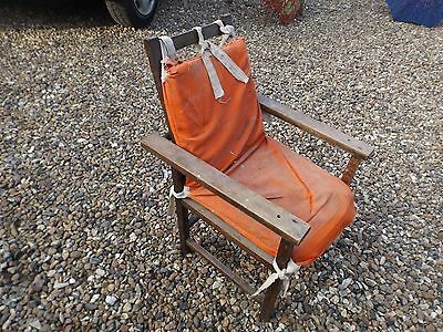 vintage old small childs reclining chair Edwardian?