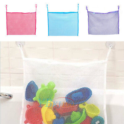 Durable Baby Kids Bath Shower Toys Tidy Bag Net Mesh Storage Holder Organiser