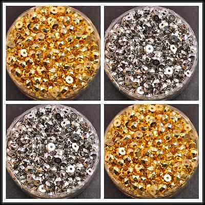 50/100pcs faceted charm spacer loose beads DIY jewelry